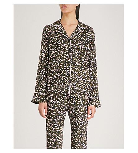 ZADIG & VOLTAIRE Tradi leopard-print crepe shirt (Green