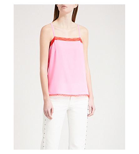 ZADIG & VOLTAIRE Carmen silk-crepe camisole (Pink
