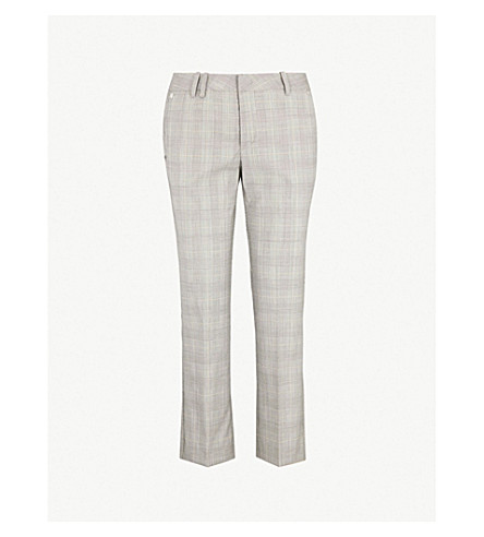 ZADIG&VOLTAIRE Posh checked cropped wool trousers (Grey