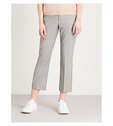 ZADIG & VOLTAIRE Posh checked cropped wool trousers (Grey