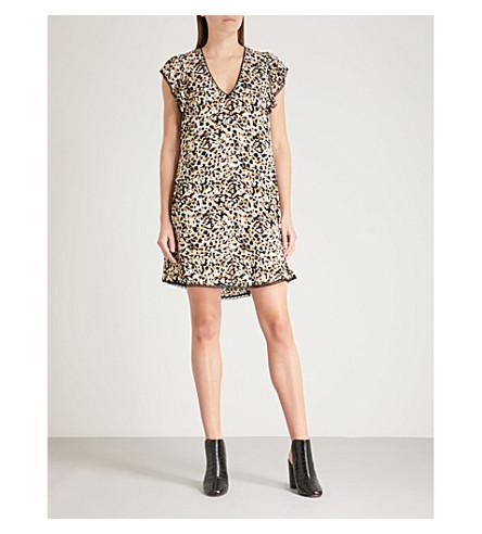 ZADIG & VOLTAIRE Ringo leopard-print crepe mini dress (Cream