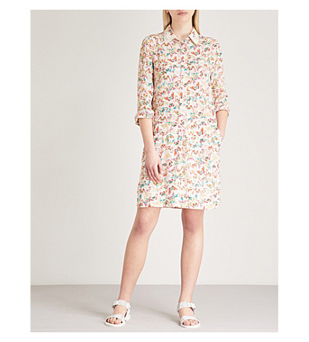 ZADIG & VOLTAIRE Rubis butterfly-print silk shirt dress (Cream