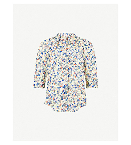ZADIG & VOLTAIRE Touch Flower silk-crepe blouse (Multi-coloured