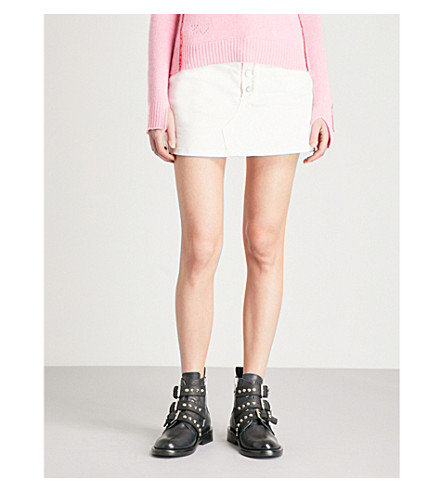 ZADIG & VOLTAIRE Joy Spikes stretch-denim mini skirt (White