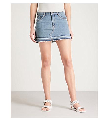 ZADIG & VOLTAIRE Juice distressed stretch-denim mini skirt (Blue