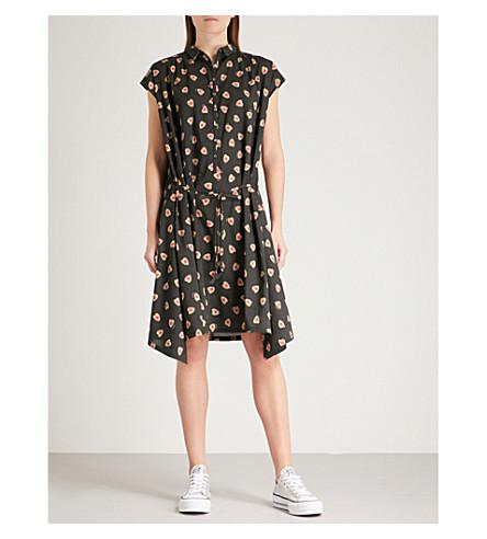ZADIG & VOLTAIRE Requiem heart-print cotton shirt dress (Black