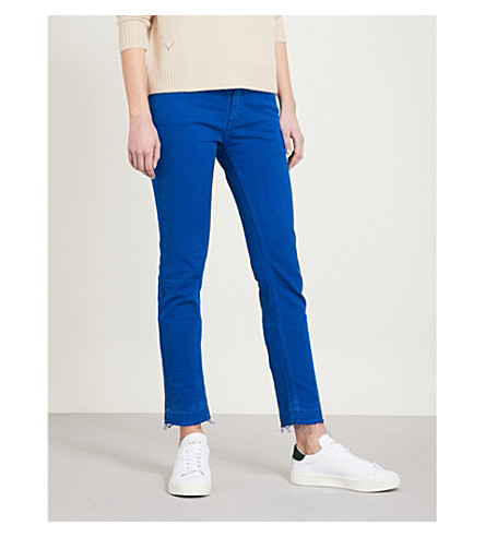 ZADIG & VOLTAIRE Eva Cher released-hem slim-fit mid-rise jeans (Blue