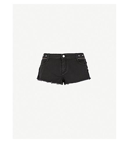 ZADIG & VOLTAIRE Paly embellished stretch-denim shorts (Black
