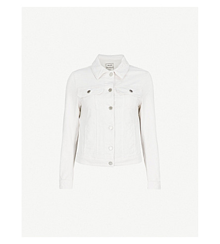 ZADIG & VOLTAIRE Kioky stretch-denim jacket (White
