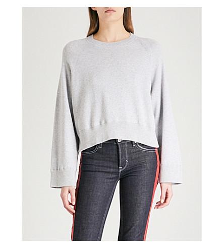 ZADIG & VOLTAIRE Lea brushed-cotton jumper (Grey