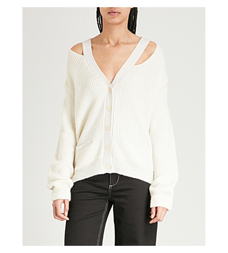 ZADIG & VOLTAIRE Rhys distressed ribbed-knit cardigan (Cream