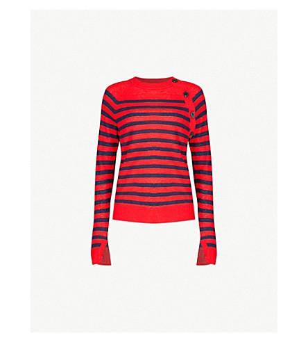 ZADIG&VOLTAIRE Reglis striped cashmere jumper (Red