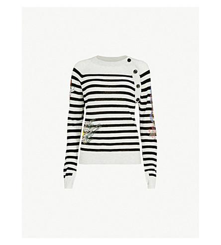 ZADIG & VOLTAIRE Reglis Bis striped cashmere jumper (Blue