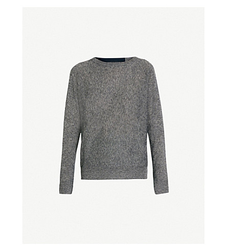 ZADIG & VOLTAIRE Crisp cashmere-blend jumper (Blue
