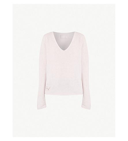 ZADIG&VOLTAIRE Nosfa cashmere-blend jumper (Pale+pink