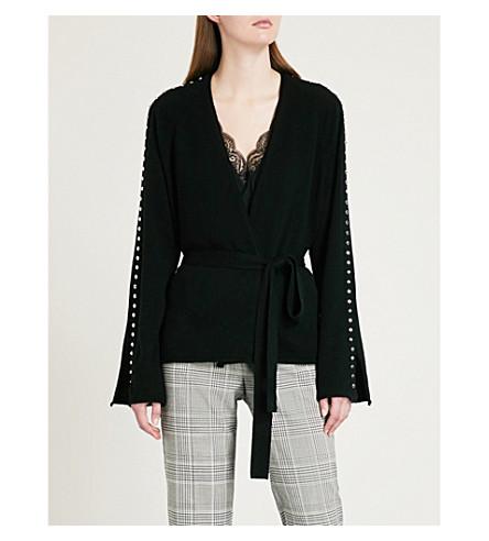 ZADIG & VOLTAIRE Lemmy stud-embellished wool and cashmere-blend cardigan (Black