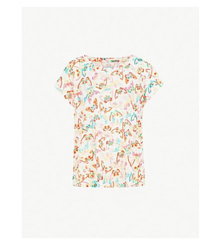 ZADIG & VOLTAIRE Meryl butterfly-print linen T-shirt (White
