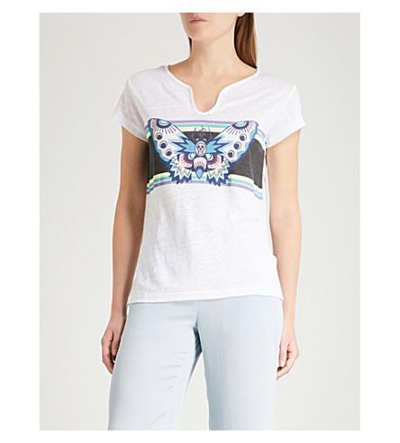 ZADIG & VOLTAIRE Tunisien butterfly linen T-shirt (White