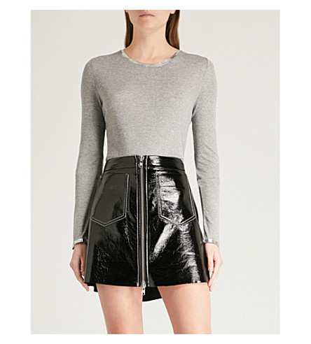 ZADIG & VOLTAIRE Willy Foil jersey top (Grey