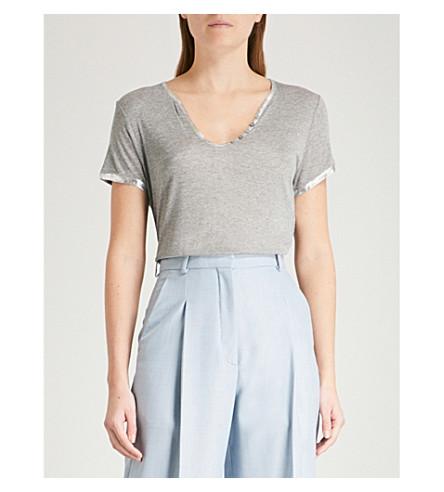 laminado amp; con ribete gris VOLTAIRE amp; ZADIG Camiseta Tunisien w0qCp