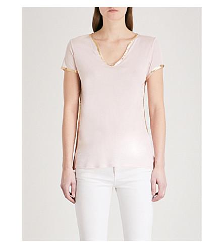 ZADIG & VOLTAIRE Tunisien foil-trim jersey T-shirt (Pale+pink