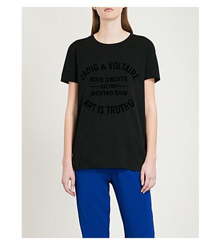 ZADIG & VOLTAIRE Walk logo-detail cotton-jersey T-shirt (Black