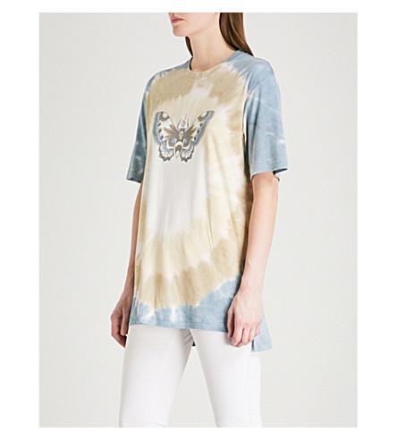ZADIG & VOLTAIRE Tobias butterfly-print cotton-jersey T-shirt (Blue