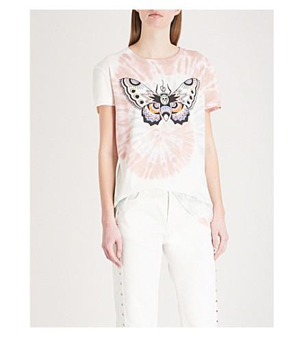 ZADIG & VOLTAIRE Butterfly-motif cotton-jersey T-shirt (Opaline