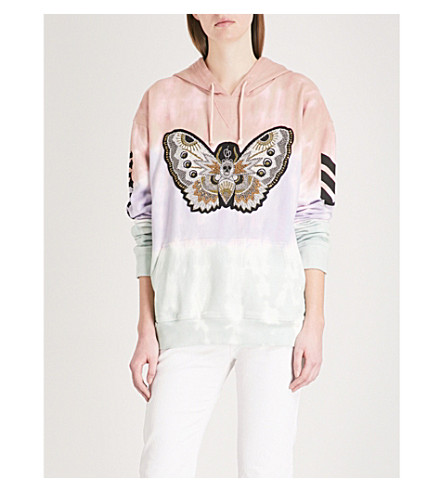 ZADIG & VOLTAIRE Butterfly-motif cotton-jersey hoody (Mauve