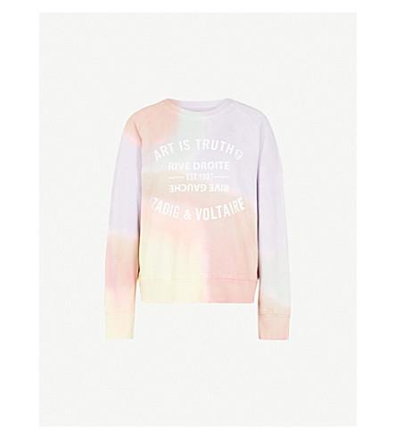 ZADIG & VOLTAIRE Tie-dye cotton-jersey sweatshirt (Mauve