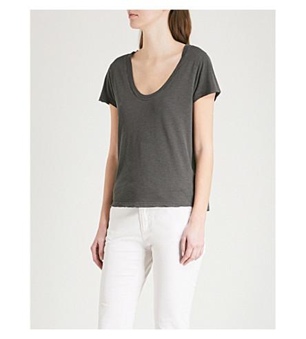 ZADIG & VOLTAIRE Tiny Slub jersey T-shirt (Grey