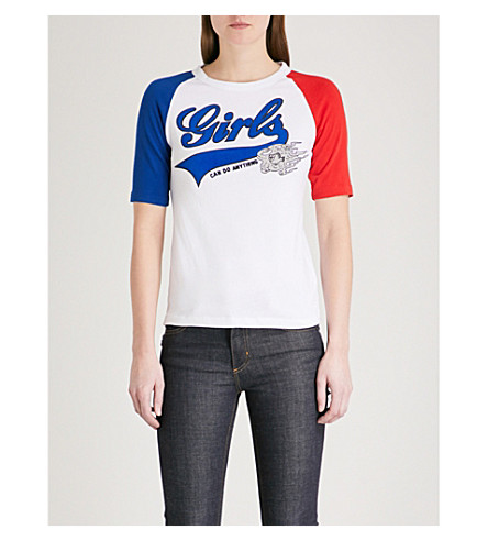 ZADIG & VOLTAIRE Ruby cotton-jersey T-shirt (Blue