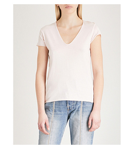 ZADIG & VOLTAIRE Skull Story cotton-jersey T-shirt (Pale+pink