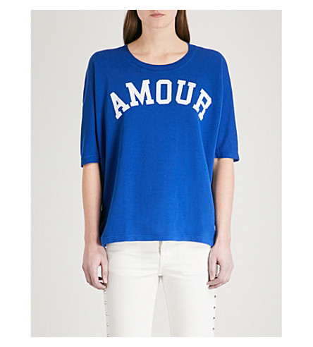 ZADIG & VOLTAIRE Portland Bis cotton-blend T-shirt (Blue