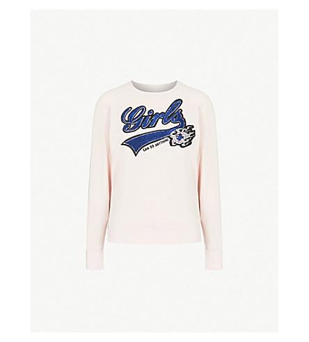 ZADIG&VOLTAIRE Upper Bis cotton-jersey sweatshirt (Pale+pink