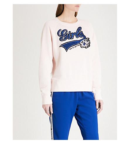 ZADIG & VOLTAIRE Upper Bis cotton-jersey sweatshirt (Pale+pink