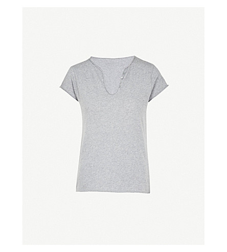 ZADIG & VOLTAIRE Tunisien cotton-jersey T-shirt (Grey