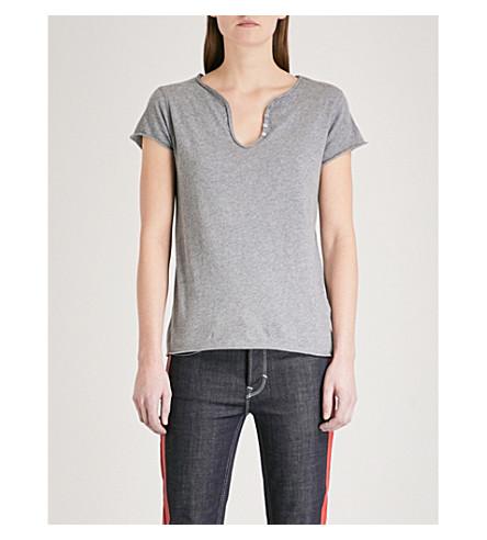 ZADIG & VOLTAIRE Tunisien cotton-jersey T-shirt (Grey