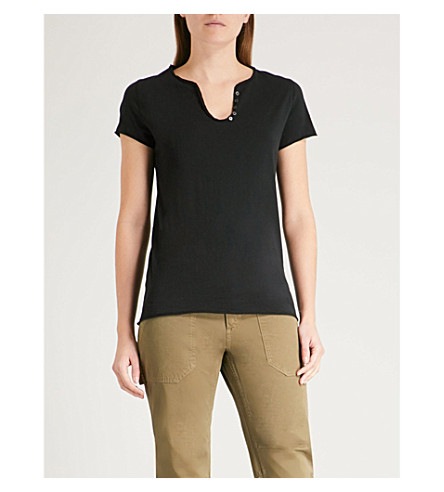 ZADIG & VOLTAIRE Tunys V-neck cotton-jersey T-shirt (Black