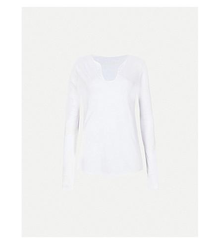 ZADIG & VOLTAIRE Tunisien cotton-jersey top (White