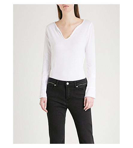 ZADIG & VOLTAIRE Tunisien cotton-jersey top (White