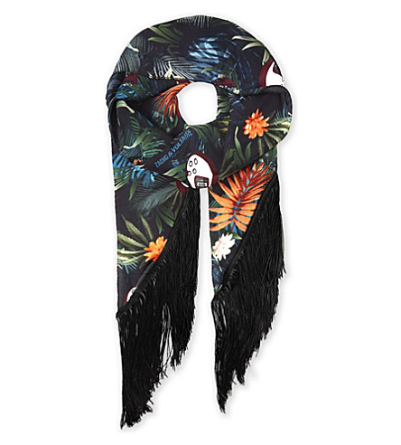 ZADIG & VOLTAIRE Fringes Jungle scarf (Bouteille