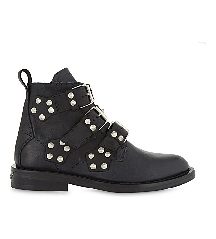 ZADIG & VOLTAIRE Laureen Spike leather boots (Marine