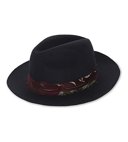 ZADIG & VOLTAIRE Alabama scarf wool trilby hat (Marine