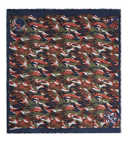 ZADIG & VOLTAIRE Delta Camou Othake scarf (Marine