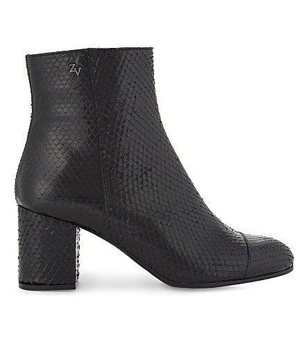 ZADIG & VOLTAIRE Lena Keith textured leather boots (Gun