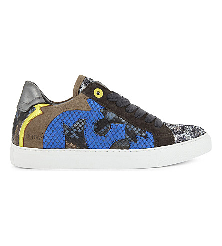 ZADIG & VOLTAIRE Taille leather trainers (Gris