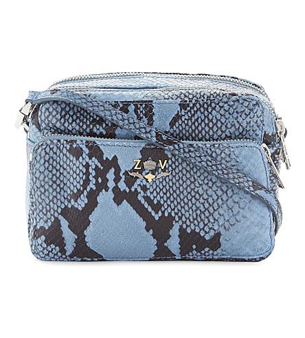 ZADIG & VOLTAIRE Boxy XL Wild leather shoulder bag (Ciel