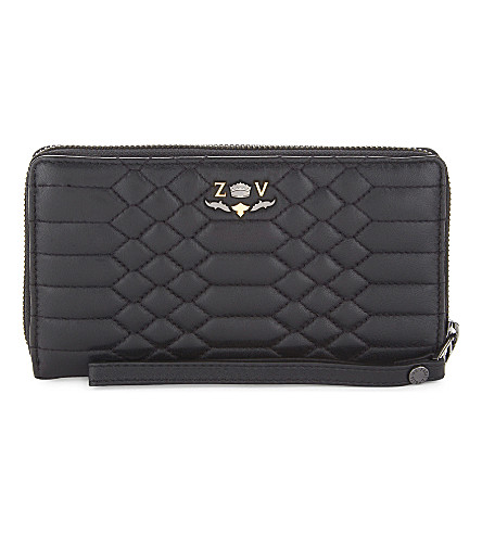 ZADIG & VOLTAIRE Compagnon Savage quilted leather wallet (Noir