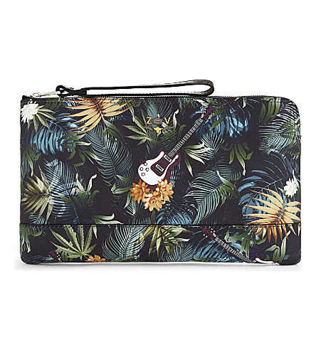 ZADIG & VOLTAIRE Uma floral print leather pouch (Multicolor